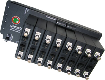 Multi-channel mounting rack for programmable low pass filters, programmable high pass filters, programmable band pass filters, programmable gain instrumentation amplifiers.